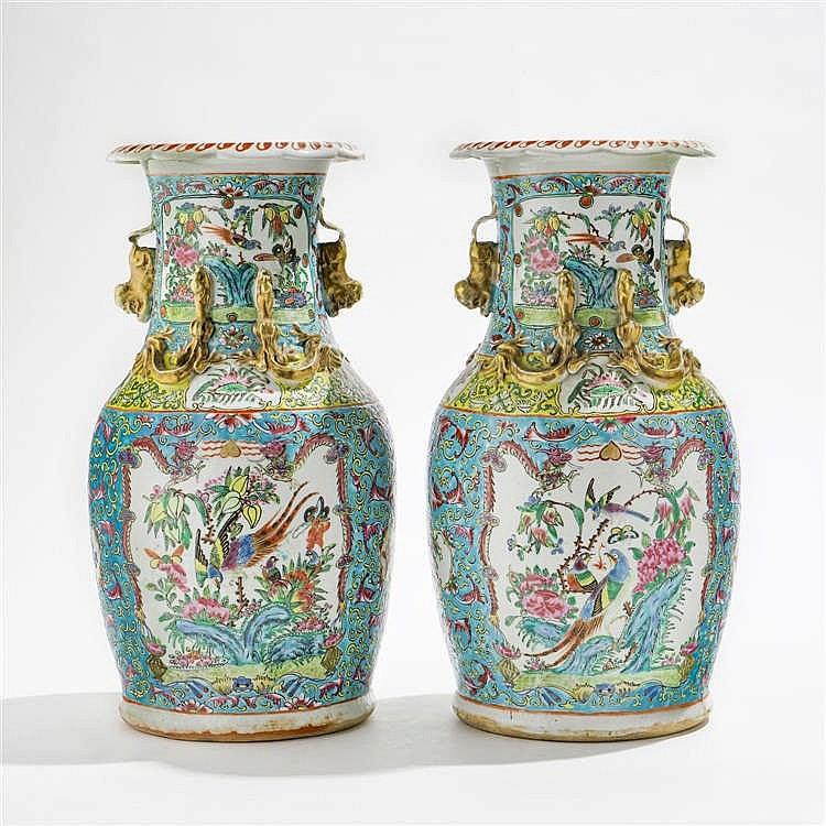 Paire de vases balustres, Chine