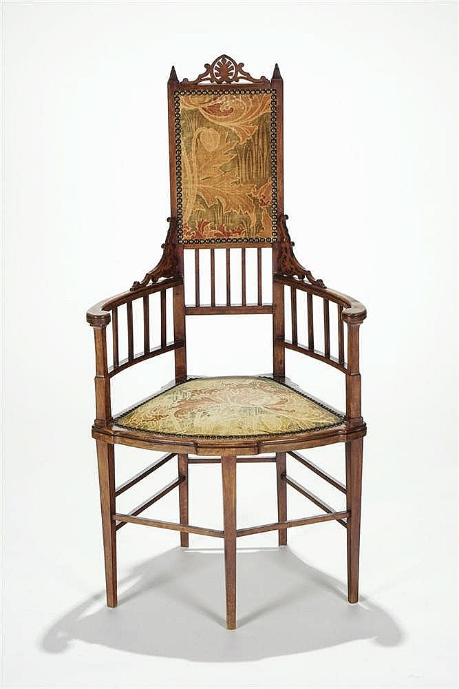 Fauteuil art and craft dans le goût de William Morris