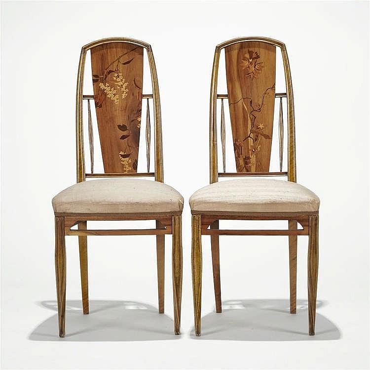 Paire de chaises Art nouveau, circa 1900