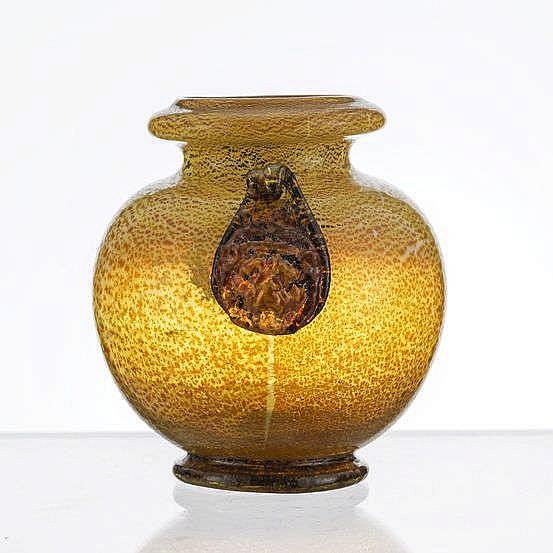 Vase boule à col ourlé