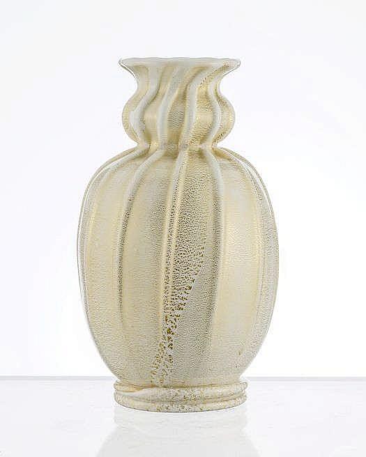 Vase coloquinte à nervures