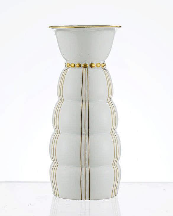 Vase Art déco annelé