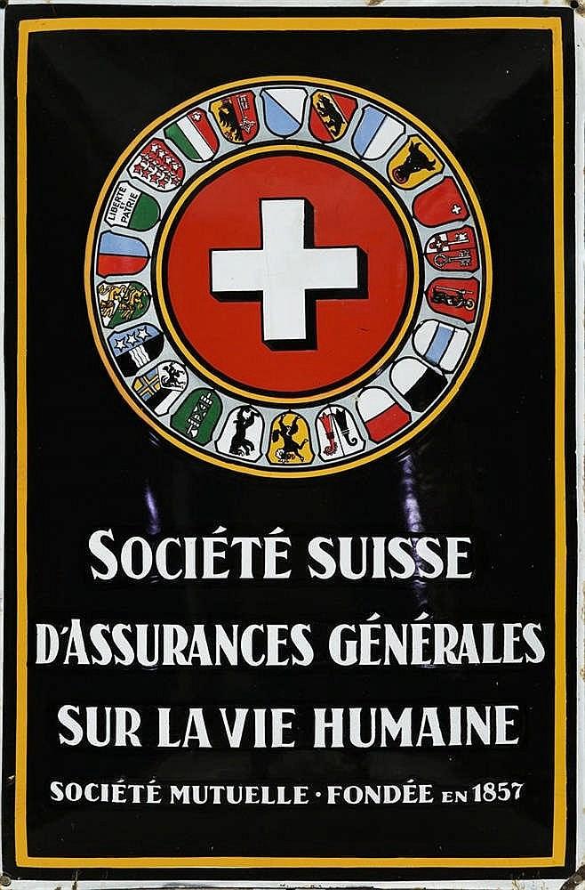 Plaque émaillée publicitaire vers 1930