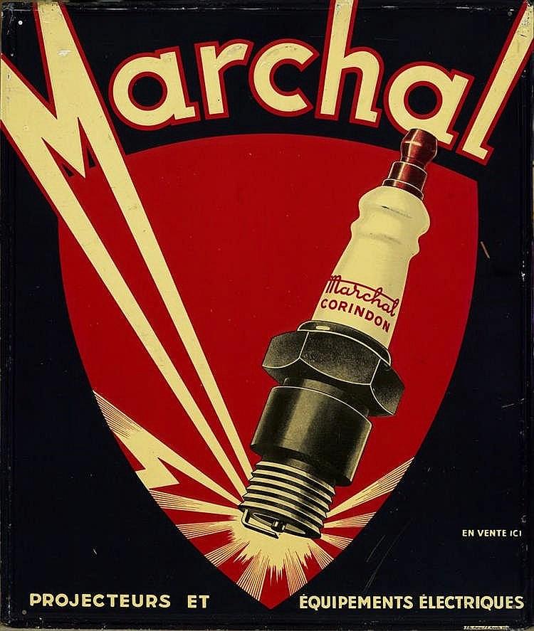Plaque publicitaire Bougie Marchal, vers 1930