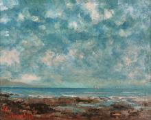 Courbet Gustave, 1819-1877, Lac Léman