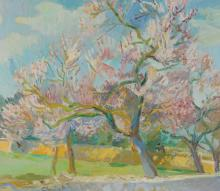 Christ Martin Alfred, 1900-1979, Cherry Trees in Blossom