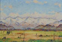 Dürr Louis, 1896-1972, Monte Gazzirola im Schnee,  Campagna di Caslano