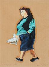 Fleck Ralph, 1951, 3 sheets: Portugiesin 1/II; Portugiese 10/II; Touristin, Lagos 11/II