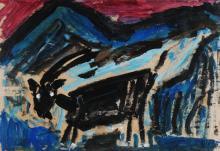Gertsch René, 1939-2007, Black Goat