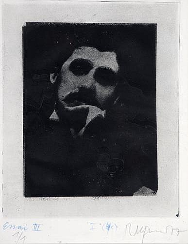 Pfund Roger: Marcel Proust, 1977 Etching