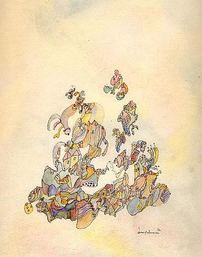 Hartmann Werner: Untitled, 1976 Ink and watercolor