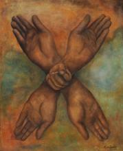 Eemans Marcel Marc, 1907-1998, Burgundy Cross