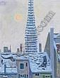 Gubler Eduard: Stauffacher Kirchturm, 1962 Oil on, Eduard Gubler, Click for value