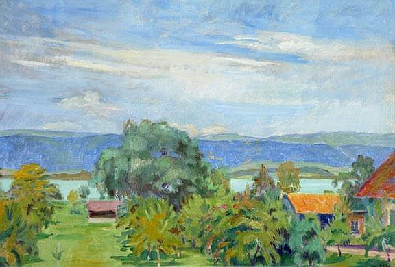 Huber Max Emanuel: Sommertag am Bielersee, 1965