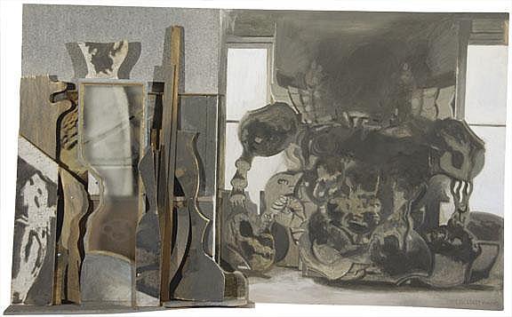 Suter Hugo: Werkstattwand I, 1986: Painted wall