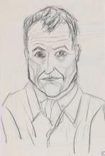 Camenisch Paul, 1893-1970, Recto: Portrait Hermann Scherrer; verso: Sketch