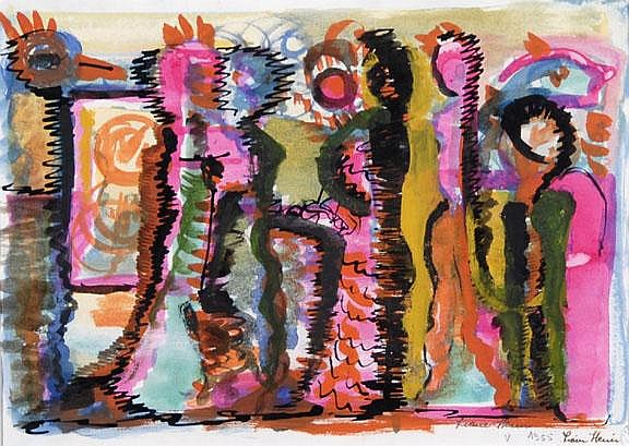 Heim Liane: Untitled, 1955: Indian ink and