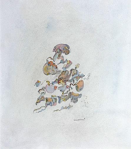 Hartmann Werner: Untitled, 1976: Mixed media on