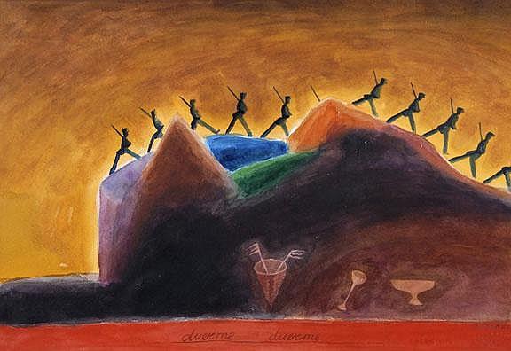 Aparicio Gerardo: Duerme, 1989:  Watercolor