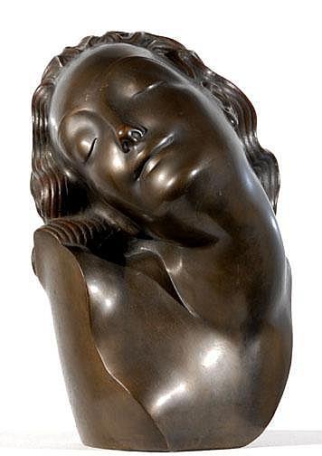 Antes Adam: Frauenkopf:  Bronze