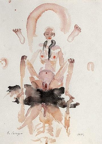 Cavegn Robert: Untitled, 1989:  Watercolor