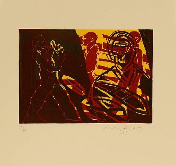 Wyss Franz Anatol - 4 sheets: Der blinde Gott, 1969; Gespräch, 1993;