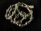 Collier ethnographique recomposé selon la tradition de perles de cristal de roche et métal argenté. Rajasthan.