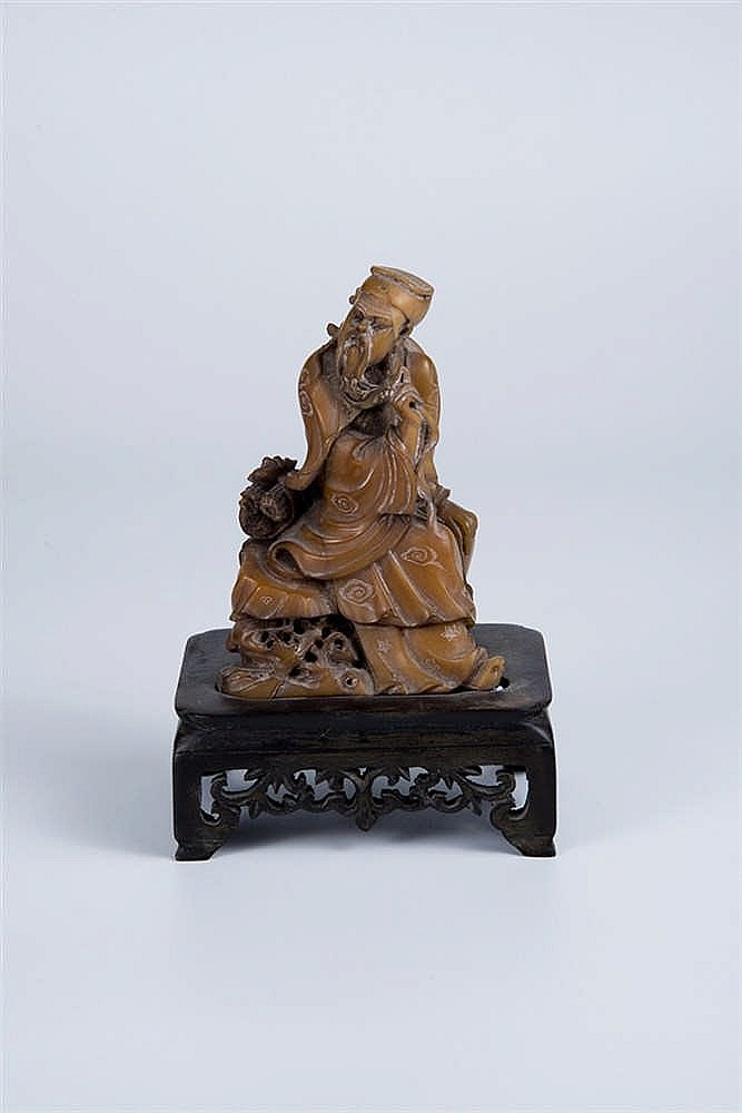 Shoushan stone carving of a figure