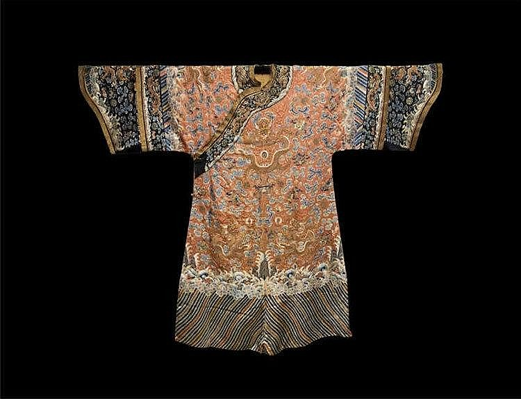 Qing, Embroidered Dragon Robe 清朝龙袍一件 长(Length):140cm 宽(Width):195cm