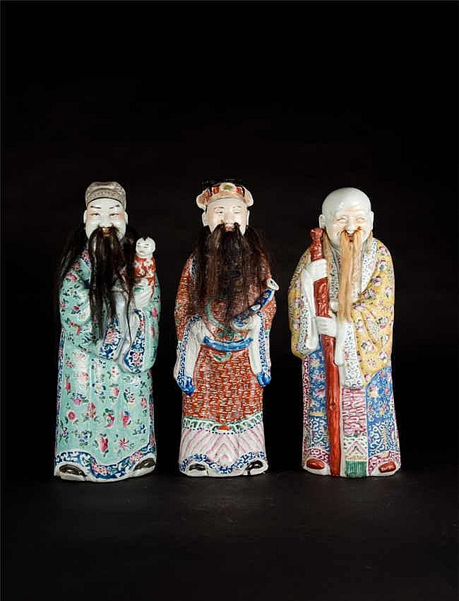 Republic Period Three Gods of Fortune 民国福禄寿三星