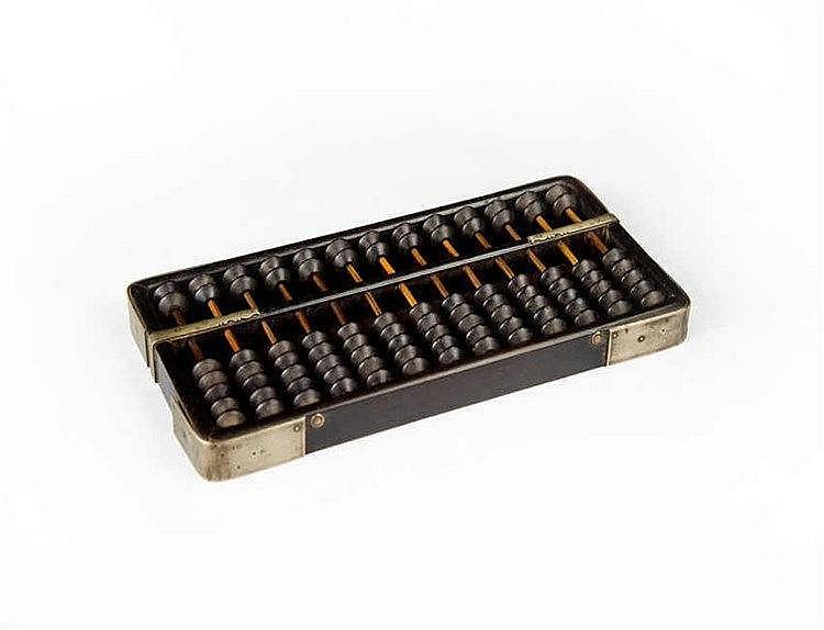 Qing Zitan Abacus 清早期紫檀算盘 长(Length):31.2cm 宽(Width):15.6cm