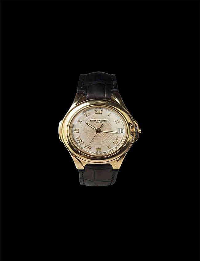 Patek Philippe Sculpture 5090J Ivory colored dial .Limited Edition of 300 . Very rare. 百达翡丽 5090J ,18K黄金标准穿孔式带扣据悉全球只有300块,并未大量生产. 男装