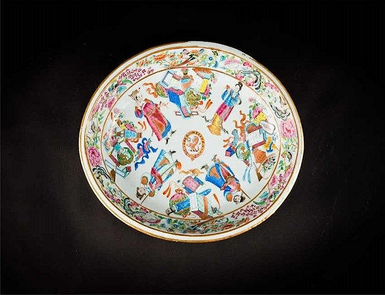 Tongzhi Famille-rose Plate with Figures 同治粉彩人物盘