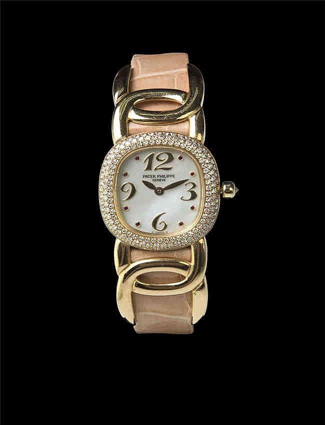 Patek Philippe Ladies Ellipse 18K Yellow Gold with diamond bezel, Ref 4831 Quartz 百达翡丽, Ellipse系列, 18k黄金,表壳带钻, 石英女装