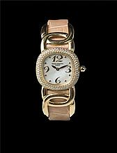Patek Philippe Ladies Ellipse 18K Yellow Gold with diamond bezel, Ref 4831 Quartz 百达翡丽, Ellipse系列, 18k黄金,表壳带钻, 石英女装