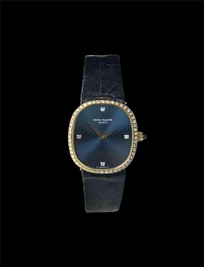 Patek Philippe 18K Ladies Ellipse diamond wristwatch Reference 4382, Mechanical: Hand-winding 百达翡丽, Ellipse系列椭圆形表壳,, 表壳及表盘带钻,18k黄金, 手动机械,女装
