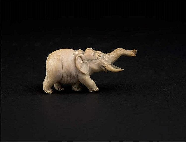 Republic Period Ivory carved Elephant 民国象形象牙