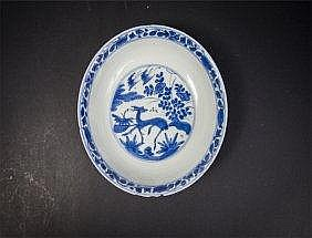 17th C Blue and white Floral Plate Chenghua Mark 明末至清十八世纪成化款青花盘