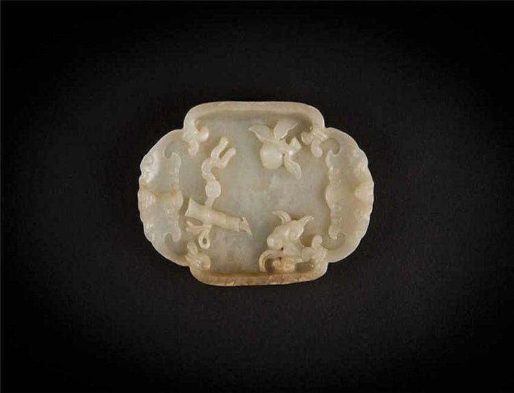 Qing, Jade Washer with Lingzhi 清灵芝水孟 长(Length):11.9cm 宽(Width):8.2cm 重 (Weight) : 154g