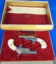 Colt Pistol 2 Gun Set, Mo Deringer No. 4, .22