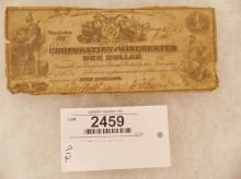Currency-Corporation of Winchester - 1 Dollar May 27, 1861