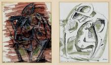 IAN BOW, (1914-1990), The Listeners and Drawing for Sculpture