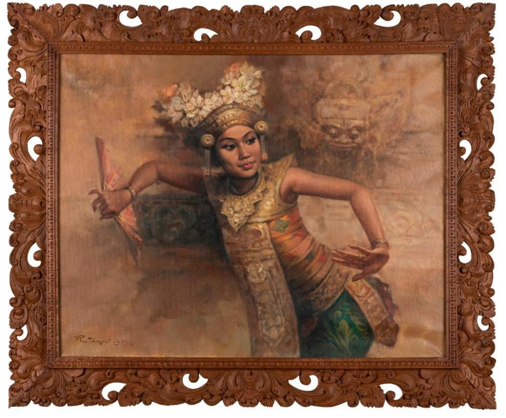 SURABAYA RUSTAMADJI (INDONESIAN 1921-2001)Balinese Dancer 19