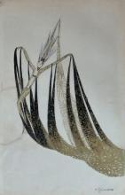 CHARLES GESMAR Gouache French Art Deco Costume Design 1920