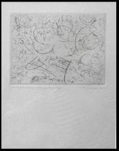 CARL BUCHHEISTER Hand Signed Etching 1962 German Constructivism Abstract