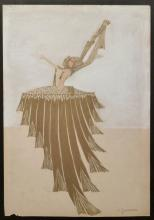 CHARLES GESMAR Gouache French Art Deco 1920 Costume Design