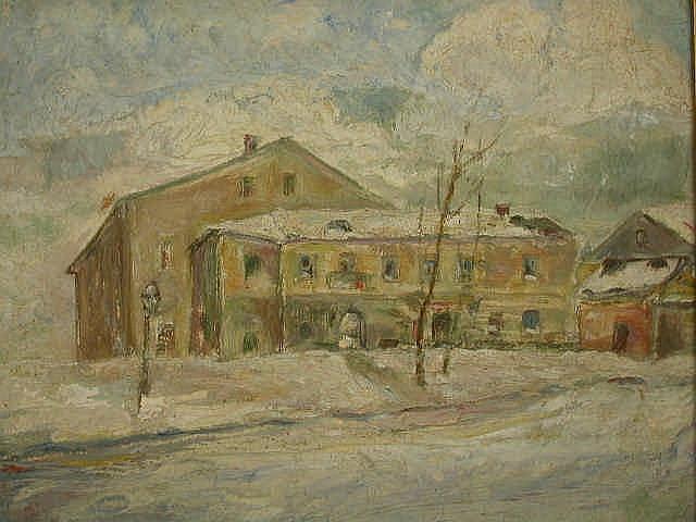 HAIM GLICKSBERG Painting Russian Israeli