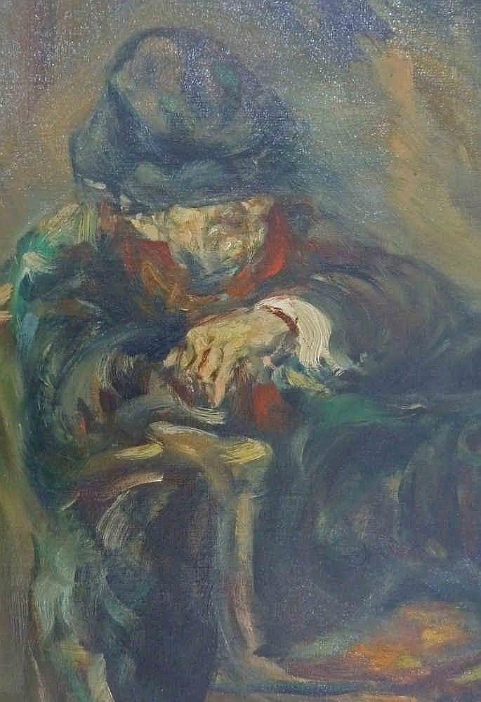 Moshe chauski signed oil painting lithuanian israeli art jud for Israeli artists oil paintings