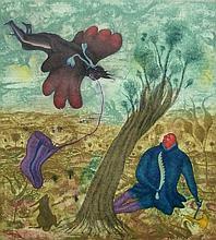 ERICH BRAUER 10 Hand Signed Etchings Austrian Surrealism 1968