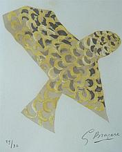 GEORGES BRAQUE Hand Signed Lithograph 1963 Bird Cubism French